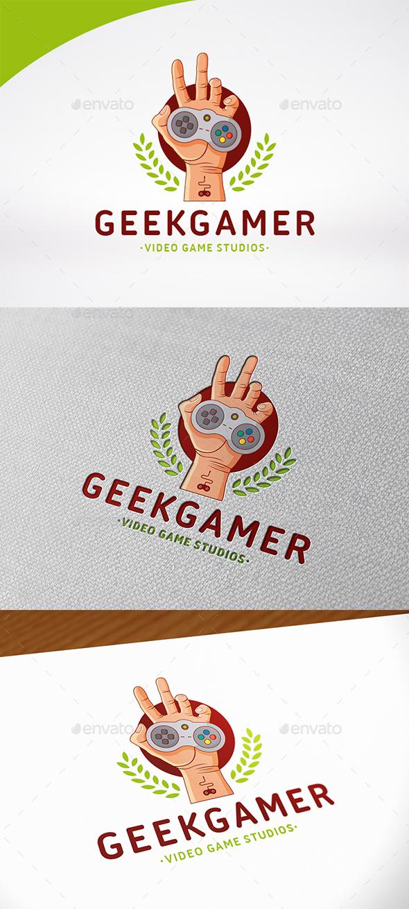Geek Game Logo Template