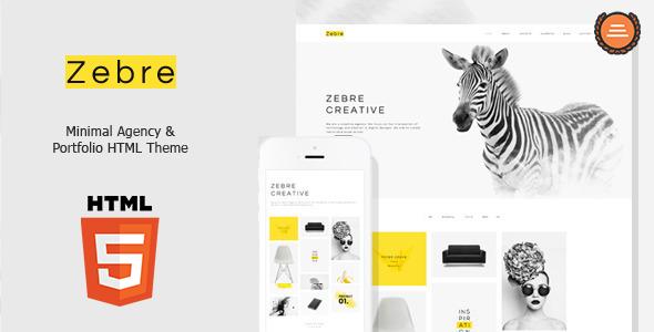 Zebre – Minimal, Agency & Porfolio HTML Theme (Creative) Download