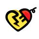 Electro Heart - Plug & Spark Iconic Stock Logo Template