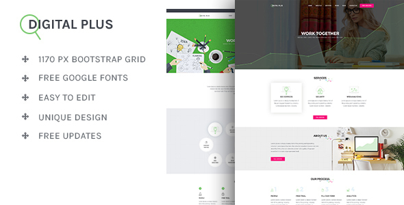 Digital Plus - SEO/Marketing HTML5 Template