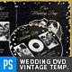 Vintage Black & Gold Wedding DVD Template