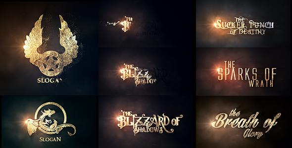 AE模板-金色粒子破碎汇聚Logo文字冒险动作电影预告片头开场模板Burn To Be Gold 免费下载
