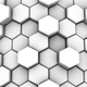 Abstract Background of White Honeycombs
