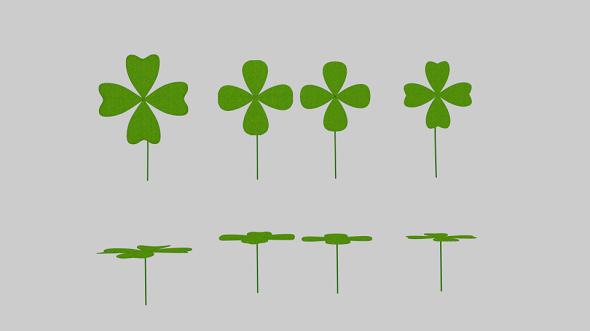 Four Leaf Clover Pack - 3DOcean Item for Sale