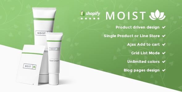 Moist – Single Product Responsive Shopify Theme (Shopify) Download