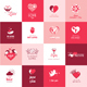 Set of Flat Design Love Icons
