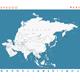 Asia Map and Navigation Labels Illustration
