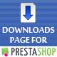 Downloads Page for PrestaShop