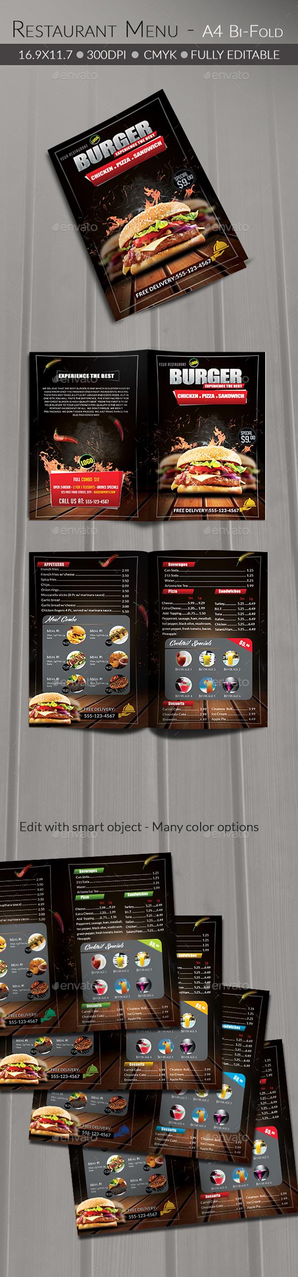 Food/ Burger Menu