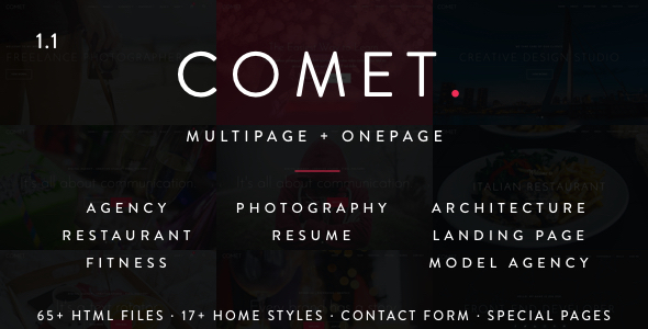 14. Comet - Creative Multi-Purpose HTML Template