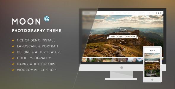 Moon - WordPress Theme for Photographers