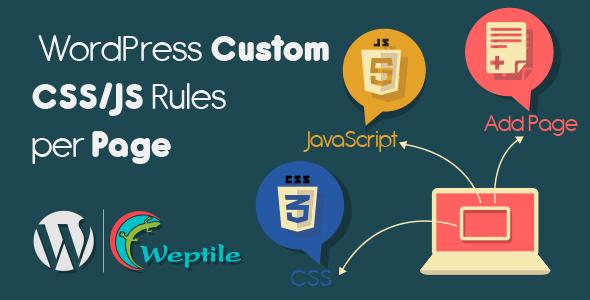 WordPress Custom CSS / Javascript Rules per Page (Utilities) Download