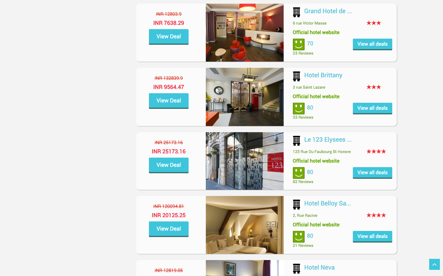 Trivik affiliate hotel search engine booking by for Hotel search