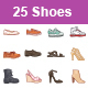 Shoes color vector icons