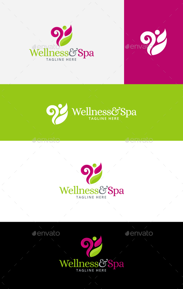 Spa wellness logo  Wellness Logo Graphics, Designs & Templates from GraphicRiver