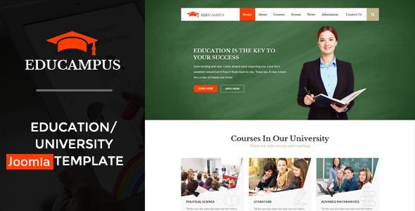 Educampus - Education & University Joomla Template