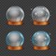Empty Magic Crystal Ball Set