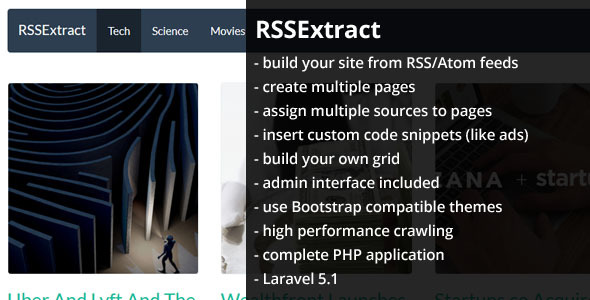 RSSExtract – Auto-generate your site from RSS feeds (Miscellaneous) Download