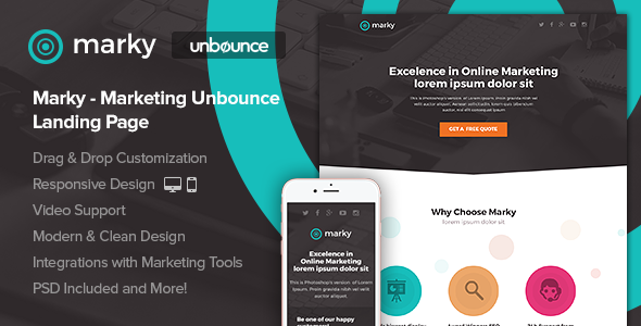 Marky -  Marketing Unbounce Landing Page