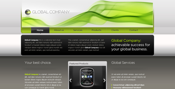 Business Template #05 - Corporate PSD Templates