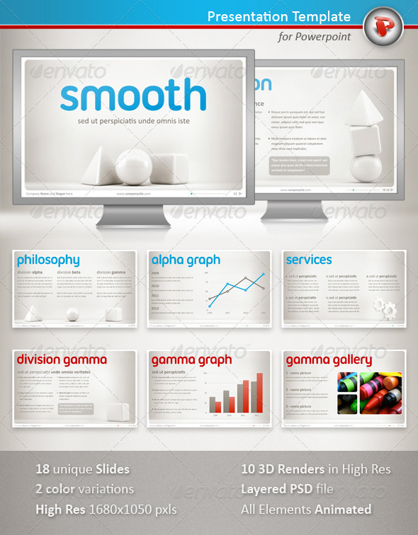 GraphicRiver Smooth Powerpoint Presentation 1446438