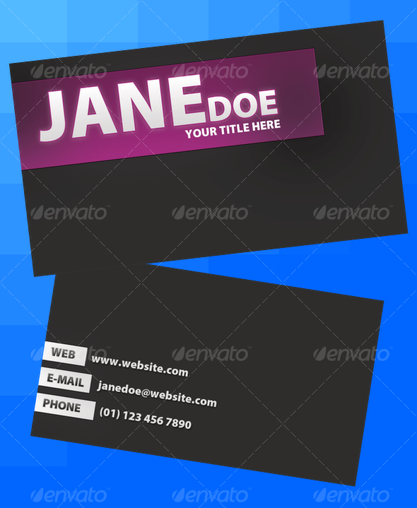 Boxes Business Card - Corporate Business Cards