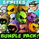 2D Game Enemies Character Sprites Bundle Pack 02