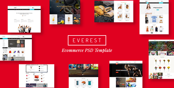 Everest – Multi-Purpose eCommerce Business PSD (Retail) images