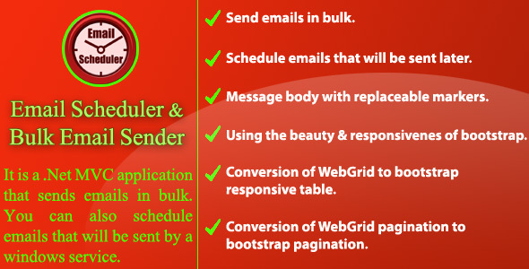 Email Scheduler and Bulk Email Sender - CodeCanyon Item for Sale