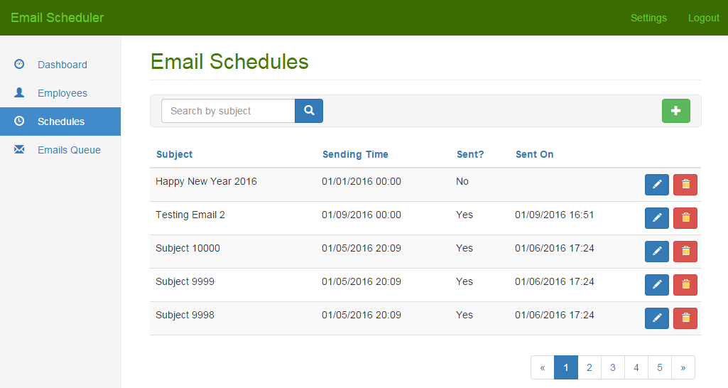 bootstrap 3 email template - email scheduler and bulk email sender net codecanyon