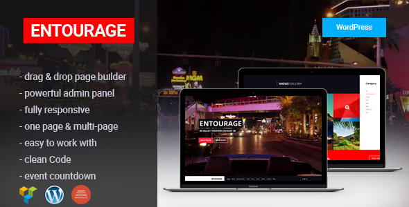ENTOURAGE - Movie/Film/Cinema/TV WordPress Theme