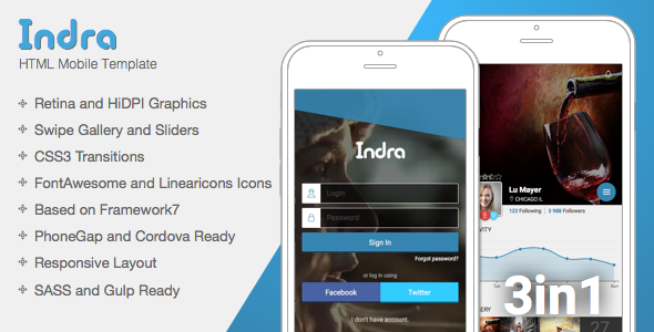 Indra   Mobile & Tablet Responsive Template (Mobile) Download