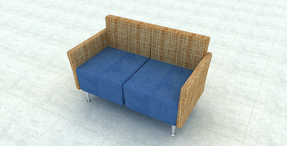 Double Sofa - 3DOcean Item for Sale