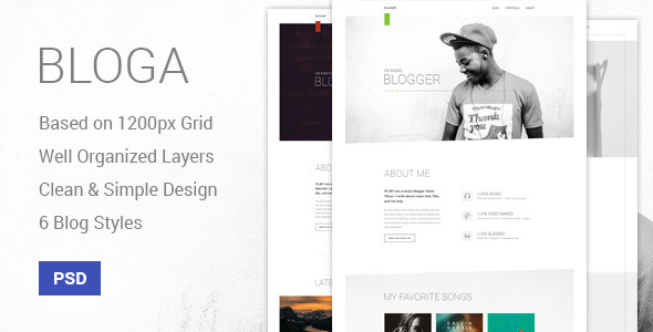 Bloga – Modern Creative Multipurpose Blog Template (Personal) images