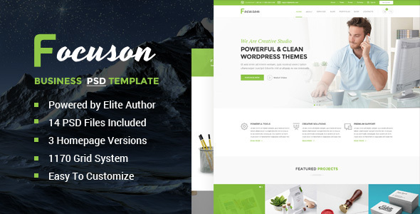 Focuson – Business PSD Template (Business) images