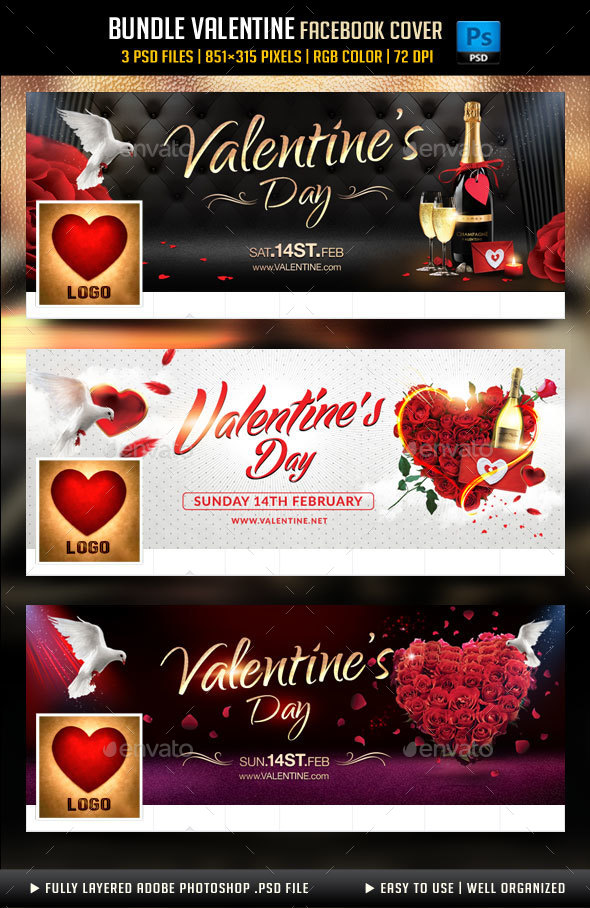 Bundle Valentines Day Facebook Cover
