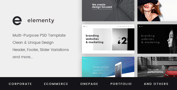 Elementy – Multipurpose PSD Template (Corporate) images