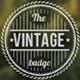 6 Vintage Badges Pack