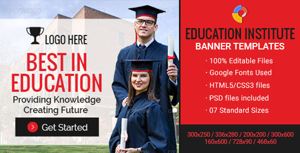GWD | Education Institute Ad Banners - 7 Sizes
