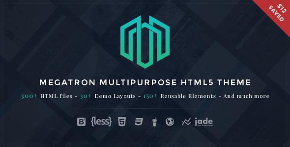 Megatron - Multipurpose HTML5 Template