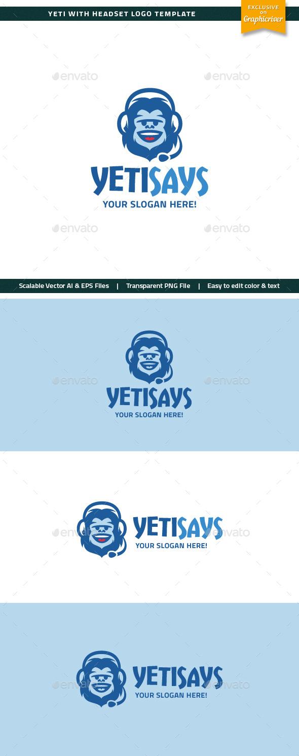 Yeti With Headset Logo