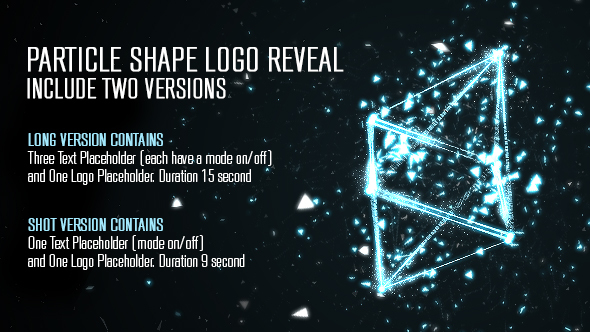 VideoHive Particle Shape Logo Reveal 14431728