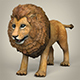 Low Poly Realistic Lion