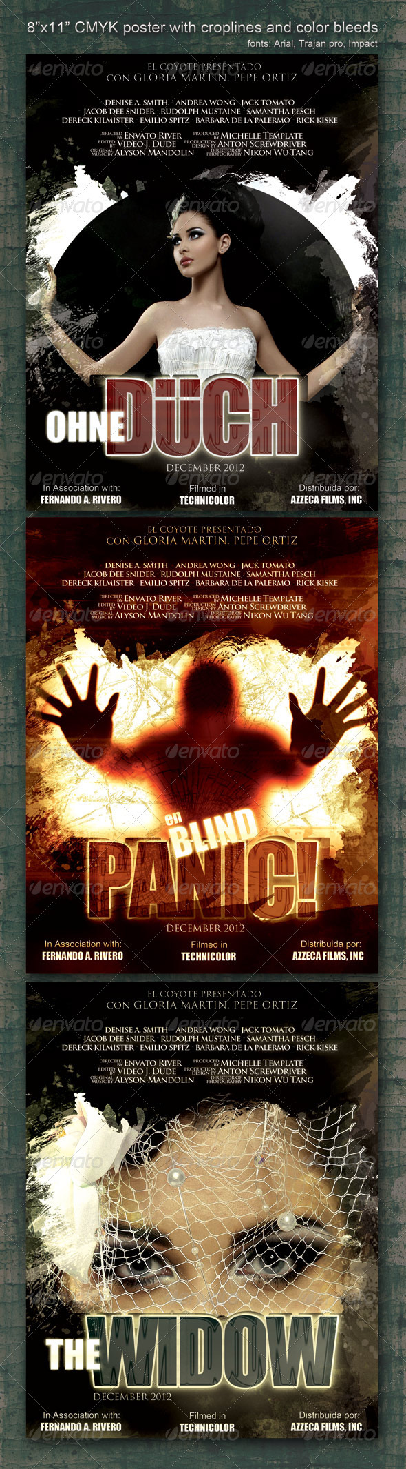 GraphicRiver 8.5 x11 Poster Panic 1448212