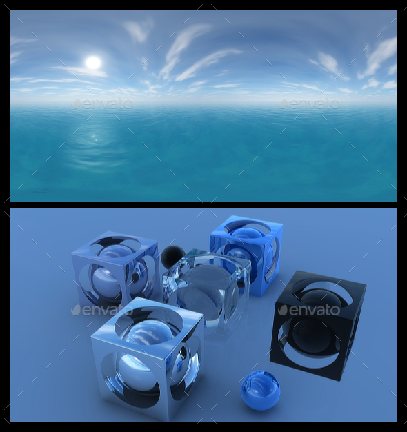 Ocean Blue Clouds 10 - HDRI - 3DOcean Item for Sale