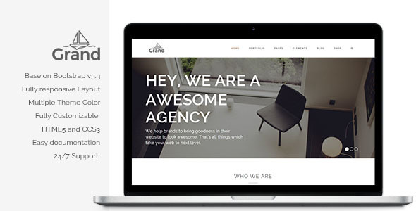Grand - Creative Responsive Multipurpose Template