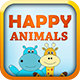 Happy Animals Memory Games - HTML5 Learning Game