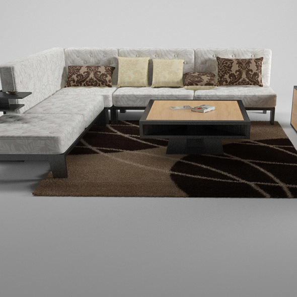 Sofa and table - 3DOcean Item for Sale