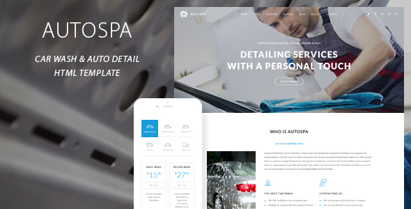 Auto Spa – Car Wash Auto Detail Template (Business) Download