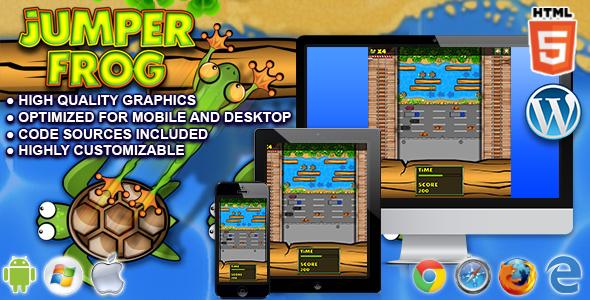 Jumper Frog - HTML5 Game